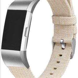 NWT Baylite Canvas fabric strap - Fitbit Charge 2